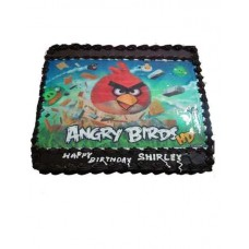 Angry Bird Photo Cake