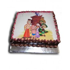 Chota Bheem Cartoon Photo Cake