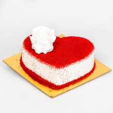 Half Kg Red Velvet Heart Shape Cake