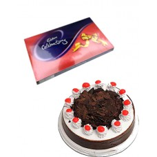 Cake and Cadbury Celebration Chocolate