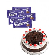 Cake with Dairy Milk Chocolates