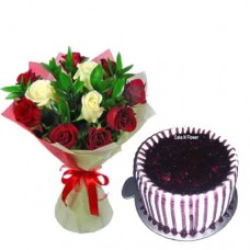 Blueberry Cake and Mix Roses