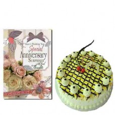Butterscotch Cake and Anniversary Card