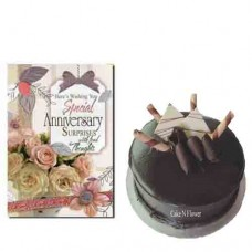 Chocolate Cake and Anniversary Card