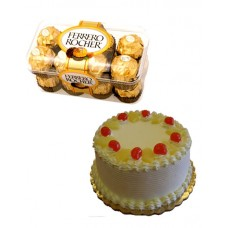 Pineapple Cake and Ferrero Rocher