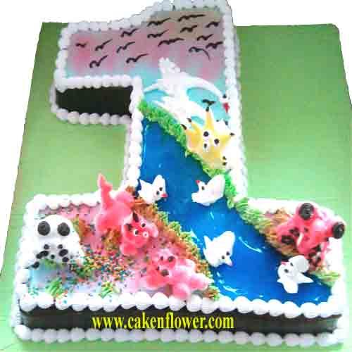 1 Shaped Cake Delivery In Noida Gurgaondelhi