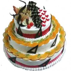3 Tier Fruits Cake
