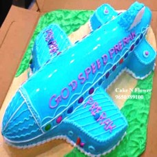 Airplane Shape Cake