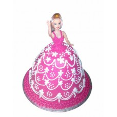 Barbie Doll Shape cake Design 5