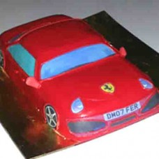 Farari Car Shape Cake