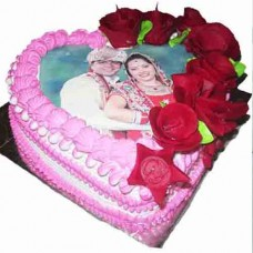 Heart Shape Designer Photo Cake