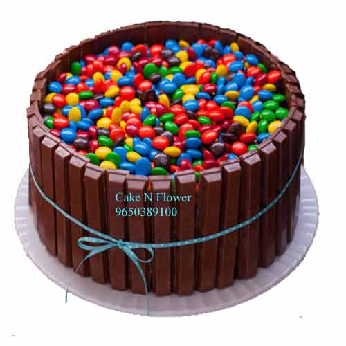 Kit Kat and Gems Cake Send to Greater Noida, Noida